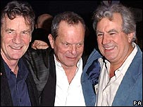 Pythons Michael Palin, Terry Gilliam and Terry Jones