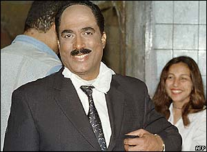 Egyptian actor Ahmad Zaki during a make-up session for his role in Days of Sadat
