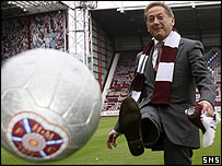 Vladimir Romanov kicks out at Tynecastle