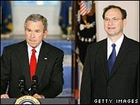 President George Bush nominates Samuel Alito