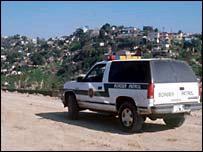 Vehículo de la patrulla fronteriza estadounidense.