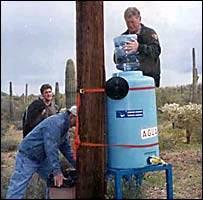 Expedidor de agua en el desierto de Arizona.