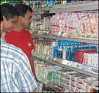 Men in Mumbai store