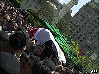 Ahmed Zaki's coffin