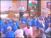 Picture of Maerdy Junior School assembly