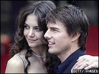 Tom Cruise with Katie Holmes at the UK premier of War of the Worlds