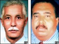 Undated photos of Abderrahim Boualam and Abdelkarim El Mouhafidi