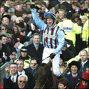 Best Mate and Jim Culloty win the 2003 Cheltenham Gold Cup