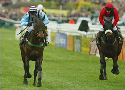 It was far closer in 2004 but Best Mate held on to beat Sir Rembrandt by half a length to join the elite band of triple Gold Cup winners