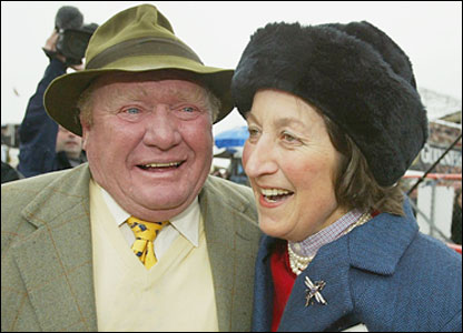 Terry Biddlecombe (left) and Henrietta Knight