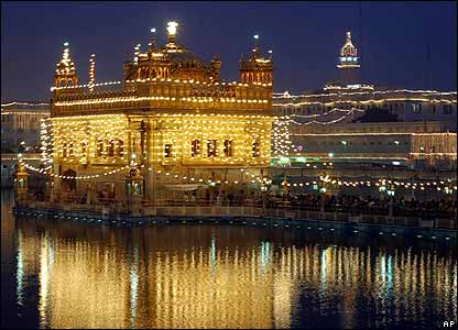 golden temple amritsar at night. The Golden Temple in Amritsar,