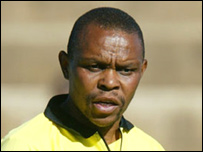 South African referee Petros Mathebela