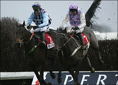 Tony McCoy and Best Mate (left) won the King George VI Kempton in December 2002