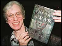 Joan Brady with her Whitbread Prize winning book