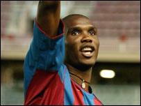 Cameroon and Barcelona's Samuel Eto'o Fils
