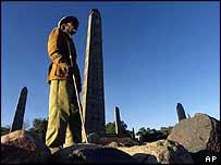 Obelisks in Axum's royal cemetery