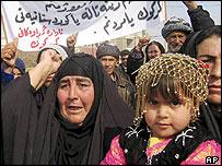 Kurdish families demonstrate for better representation in Kirkuk, Iraq