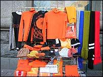 Ukrainian 'Orange' merchandise stall