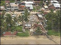 Destrucción en la isla de Nias