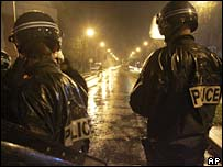 Riot police in Aulnay-sous-Bois