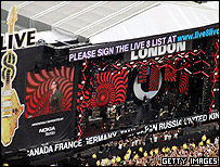 Live 8 concert in Hyde Park