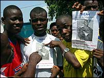 George Weah supporters in Monrovia