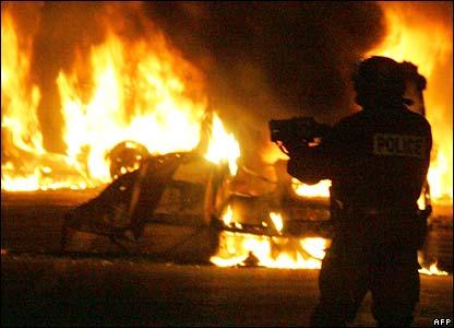 Firefighter in Clichy-sous-Bois, Paris