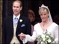 Prince Edward and Sophie's 1999 wedding