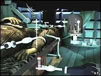 """Una simulación del robot """"cirujano""""."""