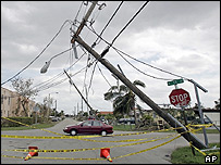 Damage caused by Hurricane Wilma