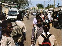 A Madagascan town