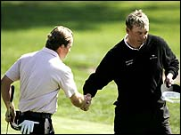 Graeme McDowell and Darren Clarke at the WGC-Match Play