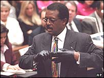 Johnnie Cochran at OJ Simpson's trial