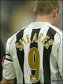 Newcastle striker Alan Shearer