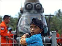 Boy waits on Nias island