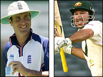 Michael Vaughan and Ricky Ponting