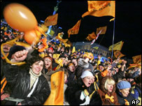 Crowds in Kiev, Ukraine, 2004