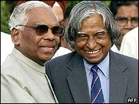 KR Narayanan (left) with current President APJ Kalam