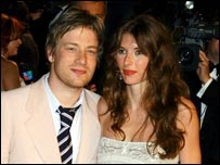 Jamie Oliver with his wife Jools