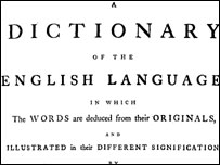 Front page of the dictionary