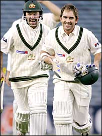 Ricky Ponting and Justin Langer