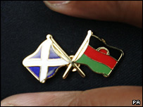 Scottish and Malawi flags