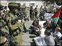 Standoff between Israeli troops and Palestinians during Land Day rally in Bethlehem