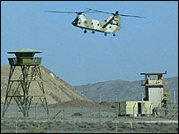 Iranian helicopter flies over the Natanz nuclear plant