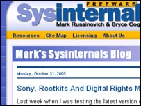 Screengrab of Sysinternals blog, Mark Russinovich