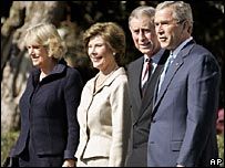 The royal couple and Mr and Mrs Bush
