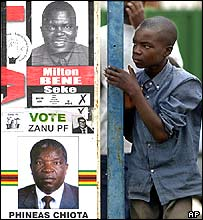 Election posters in Zimbabwe
