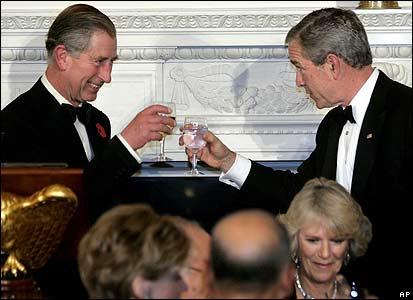 Prince Charles and President Bush