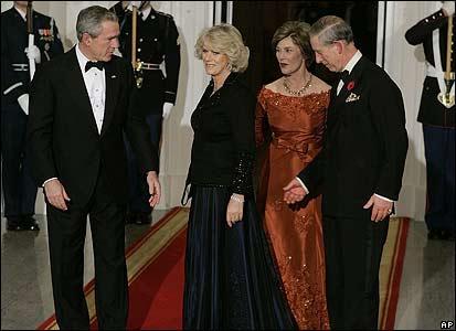 President Bush, Camilla, Laura Bush and Prince Charles
