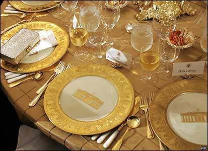Table setting at the White House